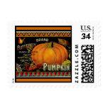 Vintage pumpkin label illus - Postage