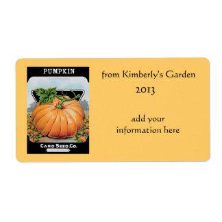 vintage pumpkin labels