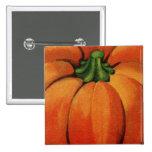 Vintage Pumpkin Print Pinback Button