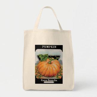 vintage pumpkin seed bag
