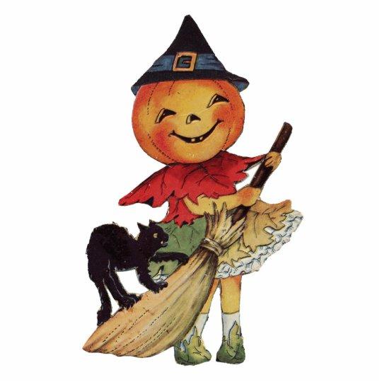 Vintage Pumpkinhead Witch Statuette