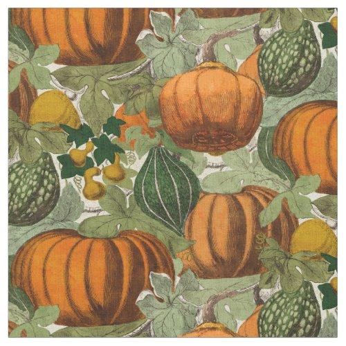 Vintage Pumpkins & Gourds Fabric