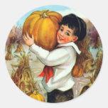 Vintage Pumpkins Stickers