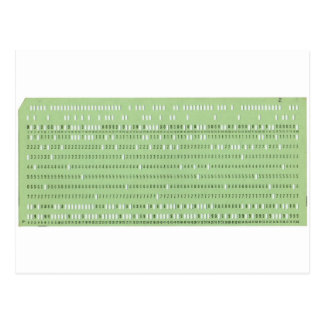 Vintage punched card for computer data storage