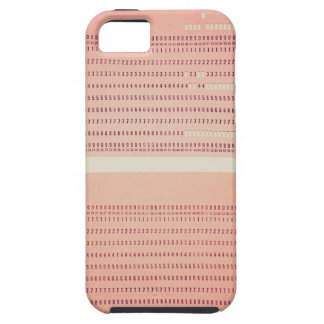 Vintage punched card for computer data storage iPhone SE/5/5s case