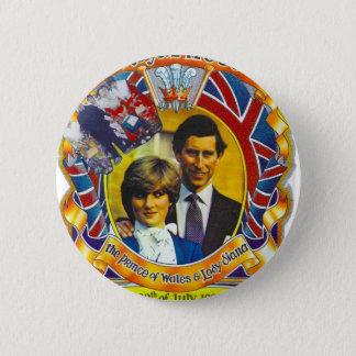 Vintage Punk  80'sroyal wedding Charles and Di Button