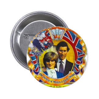 Vintage Punk  80'sroyal wedding Charles and Di Button