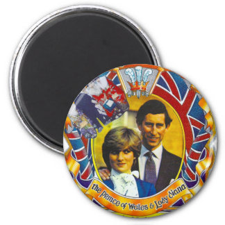 Vintage Punk  80'sroyal wedding Charles and Di Magnet