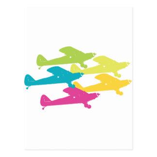 Vintage Punk Airplanes Prop Plane Design Postcard