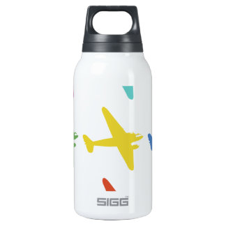 Vintage Punk Retro Airplane Pattern 10 Oz Insulated SIGG Thermos Water Bottle