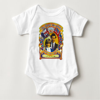 Vintage Punk rock royal wedding Charles and Di Baby Bodysuit