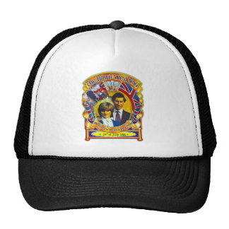 Vintage Punk rock royal wedding Charles and Di Trucker Hats