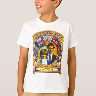 Vintage Punk rock royal wedding Charles and Di T-Shirt