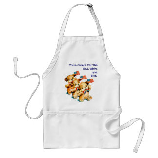 Vintage Puppies with Flags Apron