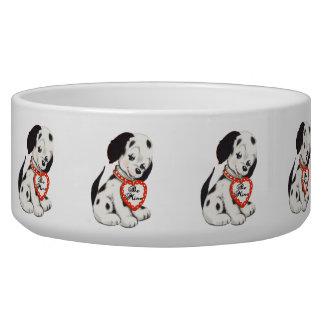 Vintage Puppy Art Dalmation Valentine Bowl