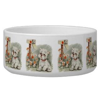 Vintage Puppy Art Sad Puppy Bowl