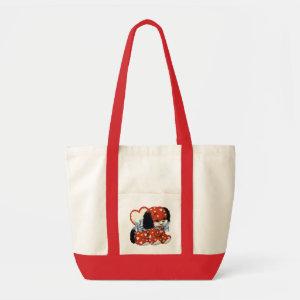 Vintage Puppy Book bag - Valentine's Gift bag