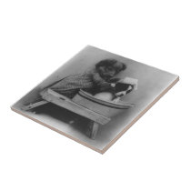 Vintage Puppy Dogs | Funny Pet Photography Tile