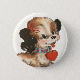 Vintage Puppy Kid's Valentine Pin