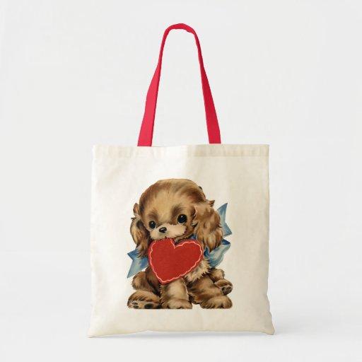 Vintage Puppy Valentine bag