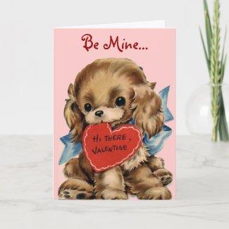 Vintage Puppy Valentine Card card