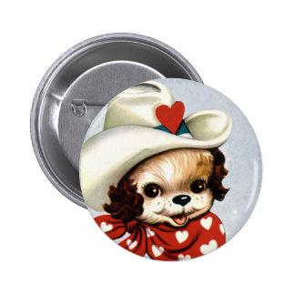 Vintage Puppy Valentine Pins