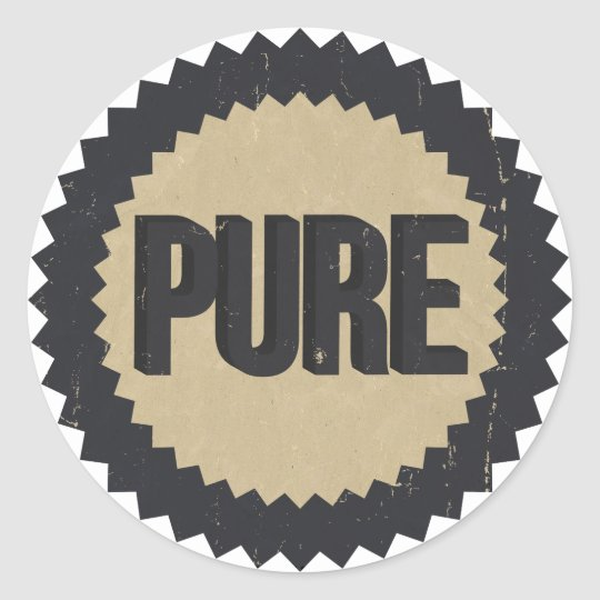 Vintage Pure sign Classic Round Sticker