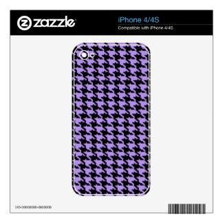 Vintage purple and black houndstooth iPhone 4 decals