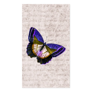 Vintage Purple and Gold Butterfly Illustration Business Cards