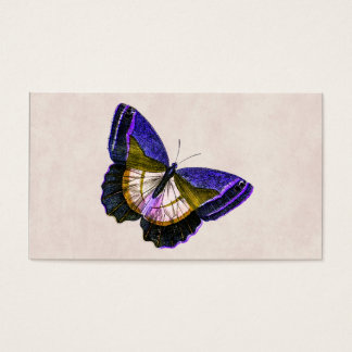 Vintage Purple and Gold Butterfly Illustration Business Card