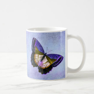 Vintage Purple and Gold Butterfly Illustration Coffee Mug