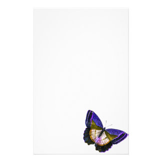 Vintage Purple and Gold Butterfly Illustration Stationery