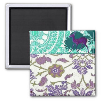 Vintage Purple and Green Magnet