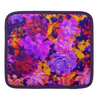 Vintage Purple and Orange Floral Sleeve Sleeves For iPads