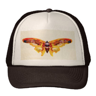 Vintage Purple and Yellow Butterfly Hat