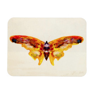Vintage Purple and Yellow Butterfly Magnet