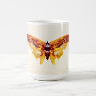 Vintage Purple and Yellow Butterfly Mug