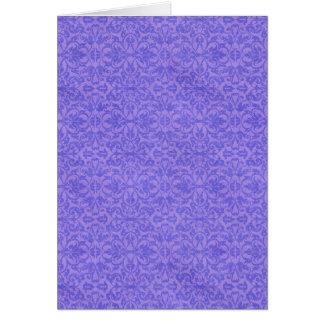 Vintage Purple Awareness Floral Card