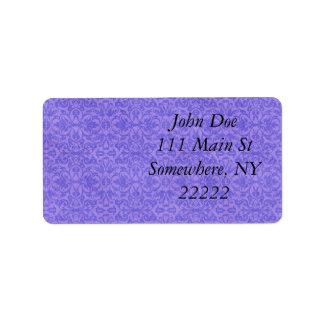Vintage Purple Awareness Floral Personalized Address Label