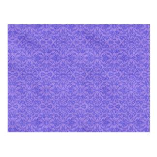 Vintage Purple Awareness Floral Post Card