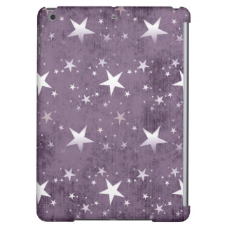 vintage purple background shining silver stars cover for iPad air