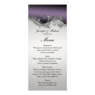 Vintage Purple Black and Silver Menu