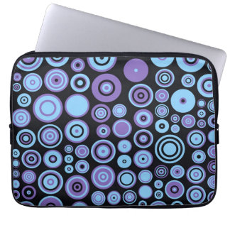 Vintage Purple Blue and Black Fifties Abstract Art Laptop Sleeve