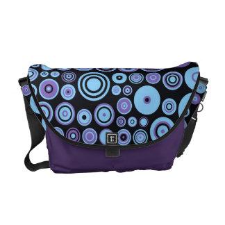 Vintage Purple Blue Fifties Abstract Art Messenger Bag