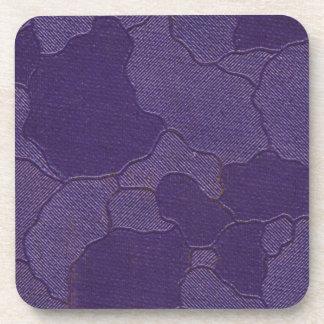 Vintage Purple Book Cover Beverage Coaster