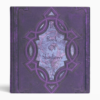 Vintage Purple Book of Shadows 3 Ring Binder