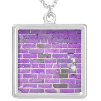 Vintage Purple Brick Wall Necklace