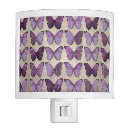 Vintage Purple Butterflies Night light
