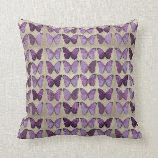 Vintage Purple Butterflies Pillows