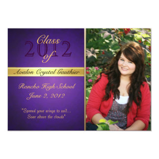 Vintage Purple Class Of  Graduation Invitations